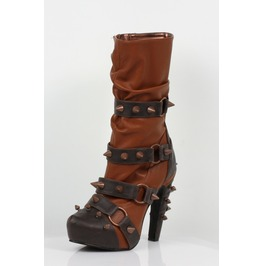 Hades Shoes Women's Bjorn Brick Studded Steampunk Boots