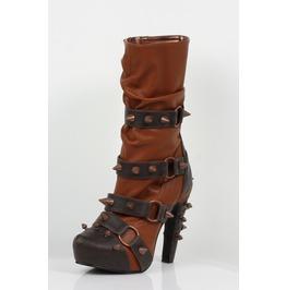 Hades Shoes Women's Bjorn Brick Studded Steampunk Boots