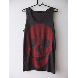 Skull Pop Art Fashion Indie Rock Tank Top M