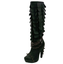 Hades Shoes Caymene Black Steampunk Boots