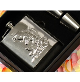 Fish Patterns Stainless Hip Flask S052