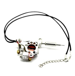 "Tattoo Silver Tattoo Machine Design Pendant 45cm(17 3/4"")"
