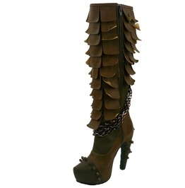 Hades Shoes Women's Caymene Brown Steampunk Boots