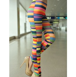 Colorful Stripes Tight Leggings