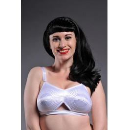 Stockings Romance Women's White Pin Whirlpool Bullet Bra 40 C