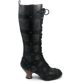 Hades Shoes Women's Dome Black Steampunk Boots