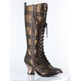 Hades Shoes Women's Brown Dome Steampunk Boots