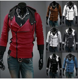 Men Hood Hoodies Mens Black / Blue / White / Brown / Red / Grey Color