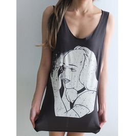 Evil Snow Queen Bad Habit Pop Rock Fashion Street Wear Tank Top