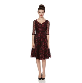 Voodoo Vixen Club Lace Flare Dress
