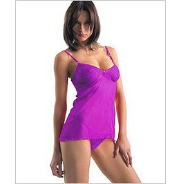 Closeout Special!!! Purple Sheer Baby Doll Teddy Matching String Thong