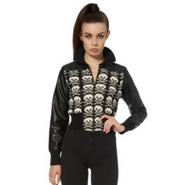 Jawbreaker Women's Skull Bones Knitted Jacket