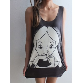 Snow Queen Fashion Pop Rock Indie Vest Tank Top