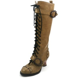 Hades Shoes Women's Vintage Mustard Steampunk Boots