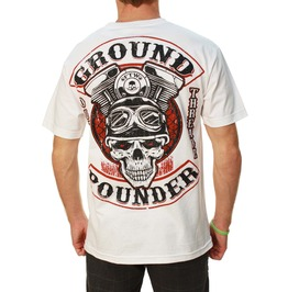 Ground Pounder White Mens Tee
