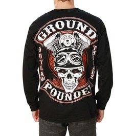 Ground Pounder Black Long Sleeve Mens Tee