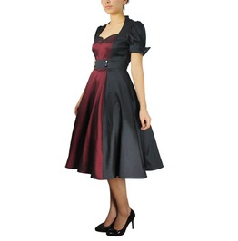 Midnight Wine Retro Style Dress Regular & Plus Sizes! 50500 Cs