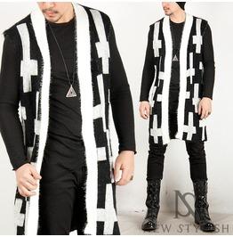 Cross Pattern Knit Vest Cardigan 41