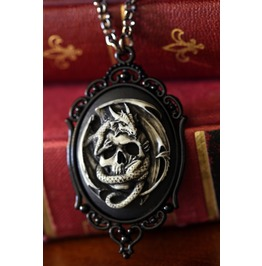 Dragon Skull Cameo Necklace