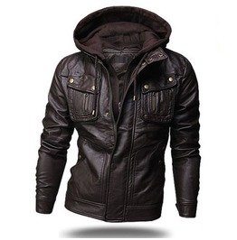Faux Leather Rider Jacket Nbk536 J
