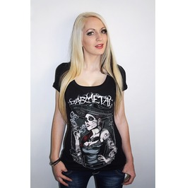 Barmetal Clothing Women's Smoked Lady Scoopneck Tattoo Top