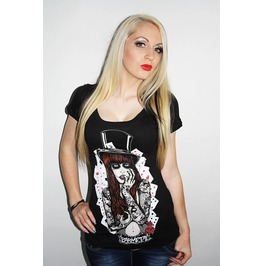 Barmetal Clothing Women's Poker Pleasure Scoopneck Top