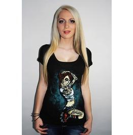 Barmetal Clothing Women's Underground Skater Scoopneck Top
