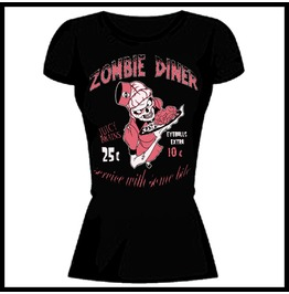 Barmetal Clothing Women's Zombie Diner Juicy Brains T Shirt