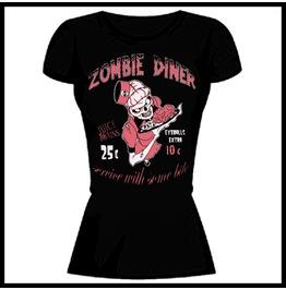 Barmetal Clothing Women's Zombie Diner Juicy Brains T Shirt
