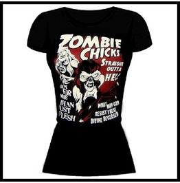 Zombie Monsters Women's Zombie Chicks B Movie T Shirt