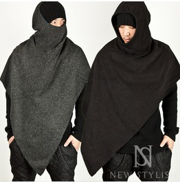 Diagonal Cape Hood Gadget 24 (Black)