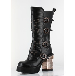 Hades Shoes Black Harajuku Steampunk Boots