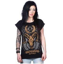 Toxico Clothing Women's Worship Master Occult T Shirt