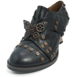 Hades Shoes Women's Black Icon Steampunk Shoes