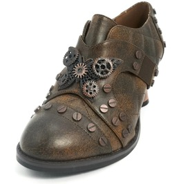 Hades Shoes Women's Icon Brown Steampunk Shoes