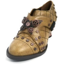 Hades Shoes Women's Icon Mustard Steampunk Shoes