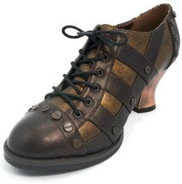 Hades Shoes Women's Brown Jade Victorian Shoes