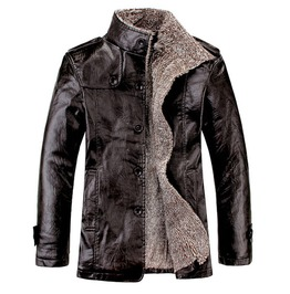 Men's Black/Brown/Khaki Colors Warm Winter Coat