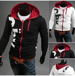 Men's Black/White Spring Hoodies