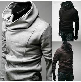 Men's Black/Blue/Gray Slim Fit Spring Sweatshirt