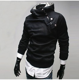 Men's 5 Colors Slim Fit High Neck Sweatshirt