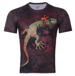 Men's 3 D Iguana Print T Shirt