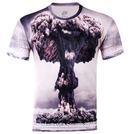 Men's 3 D Nuclear Bomb T Shirt