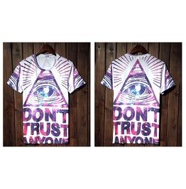 Men's Don't Trust Anyone Print T Shirt