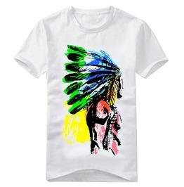 Men's Multi Color Indian Print T Shirt