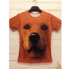Men's 3 D Dog Print T Shirt