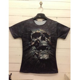 Men's Skull Print Cotton T Shirt