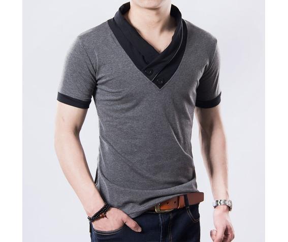 black_gray_mens_v_neck_short_sleeve_casual_t_shirt_t_shirts_13.jpg