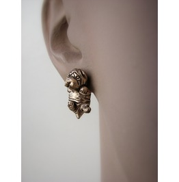 Shar Pei Puppy Dog Earrings
