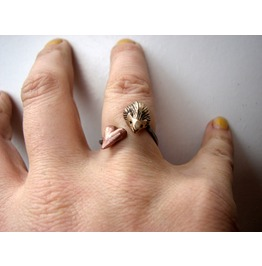 Hedgehog Valentine Ring